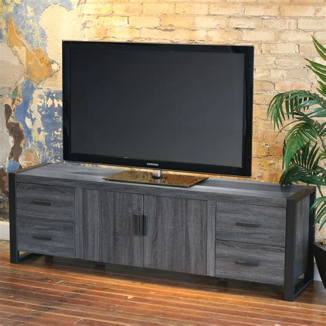 urban blend   tv stand charcoalblack  walker edison