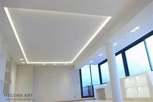 Hegenbart plafond lumineux avec eclairage led encastre for Salle de bain design avec plaque décorative plafond
