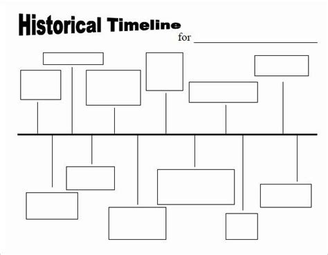 blank timeline worksheet  fresh  timeline templates