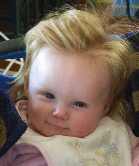 Baby Blond Hair by A Baby Is Born With Lots Of Hair Bouffant Babies