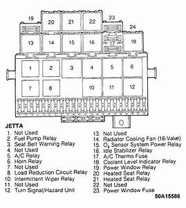 1997 Vw Jetta Fuse Box Relay Diagram