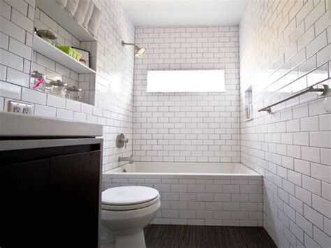subway tile bathrooms wood floor  white subway tile