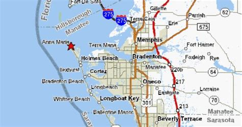 Longboat Key Florida Map.Anna Maria Island Fl Map
