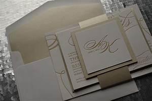 formal wedding invitation letterpress wedding invitation With cream and gold wedding invitations uk