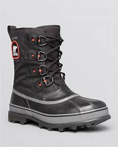 Sorel Caribou Xt Waterproof Boots in Black for Men | Lyst