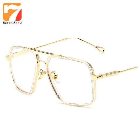 metal square glasses frame aliexpress buy 2017 brand vintage optical