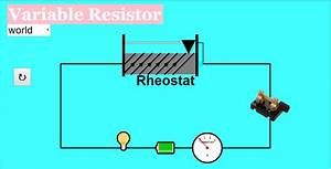 Variable Resistor Javascript Simulation Applet Html5