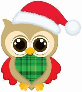 Merry Christmas Owl Clipart - ClipartXtras