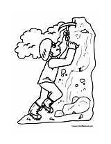 Coloring Rock Climbing Climber Pages Mountain Sports Colormegood Rockclimbing sketch template