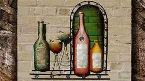 Décoration Murale Fer Forgé : d coration murale en fer forg le vin ~ Teatrodelosmanantiales.com Idées de Décoration