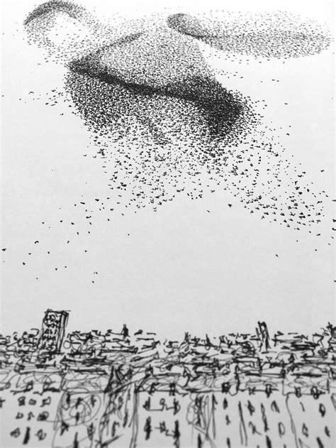 breathtaking starling murmurations put  paper
