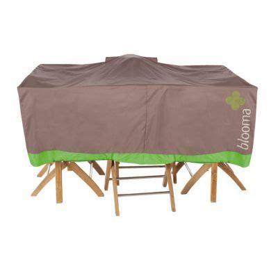 housse pour table blooma marron 170 x 111 x 60 cm castorama
