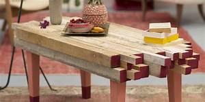 Modele De Table Basse A Faire Soi Meme : diy d co fabriquer une table basse en bois avec des tasseaux marie claire ~ Melissatoandfro.com Idées de Décoration