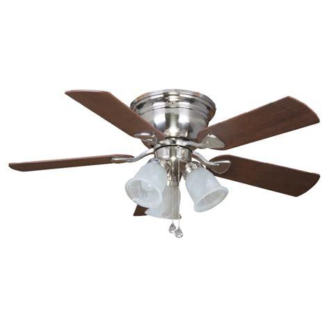 flush mount fan with light shop harbor breeze centerville 42 in brushed nickel flush