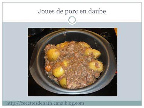 cuisiner les joues de porc joues de porc en daube les recettes de nath
