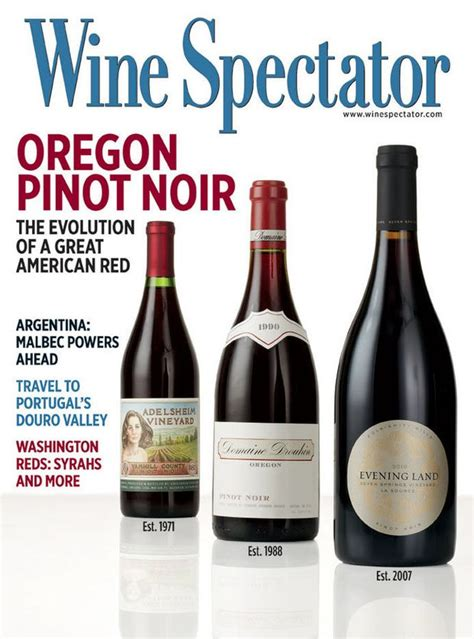 pinot noir oregon wine spectator magazine winespectator spread argentina oregonlive noirs magazines alphabetical under terryrichard