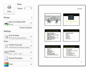 how to print handouts in powerpoint 2010 With powerpoint handout template