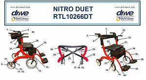 Nitro Duet Rollator And Transport Chair Replacement Parts