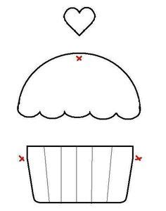 printable extra large cupcake template shapes