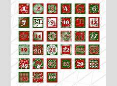 Advent Calendar Blank Template 2018 – 2018 Calendar Template