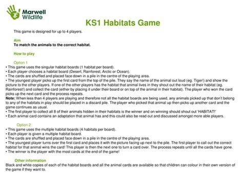 habitats by marwellwildlife teaching resources tes