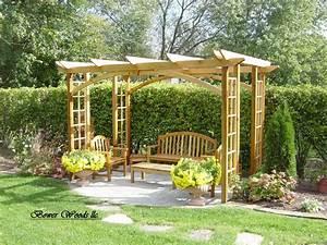 Construire Sa Pergola : construire une pergola jardin terrasse construire une pergola pergola et balancoire jardin ~ Dode.kayakingforconservation.com Idées de Décoration