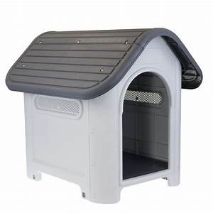 large solid hard plastic pet dog house kennel weather With hard plastic dog house