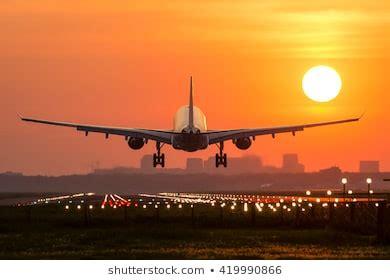 plane landing images stock  vectors shutterstock