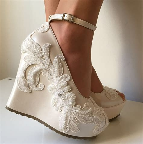 Wedding Shoes by Wedding Wedding Wedge Shoes Bridal Wedge Shoesbridal