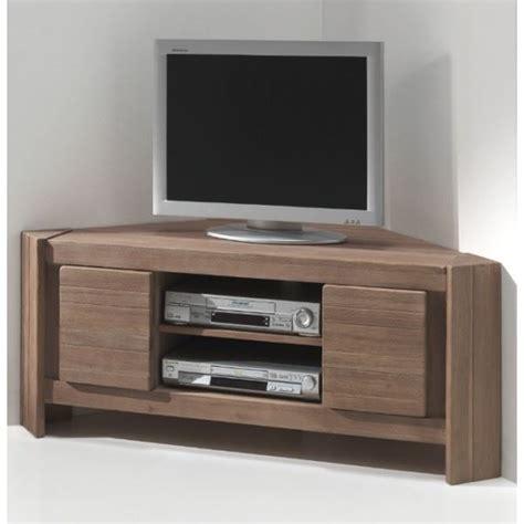 Meuble Tv D'angle Acacia Massi  Achat  Vente Meuble Tv