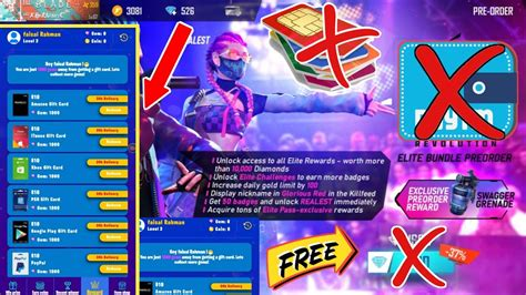 Any expired codes cannot be redeemed. Garena free fire how to redeem new free Elite pass free ...