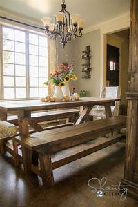 DIY How To Build Bench For Dining Room Plans Free
