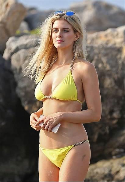 Ashley James Bikini Beach Yellow Ibiza Actress