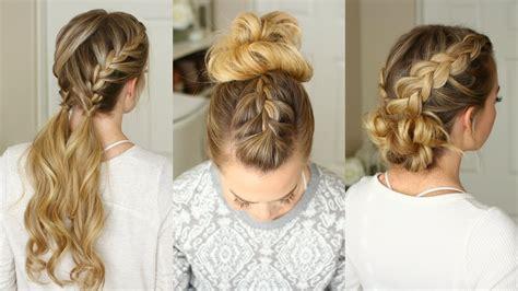 easy braided hairstyles missy sue youtube