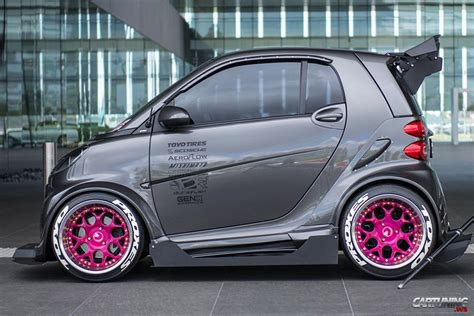 stanced smart car stanced smart cartuning best car tuning photos from