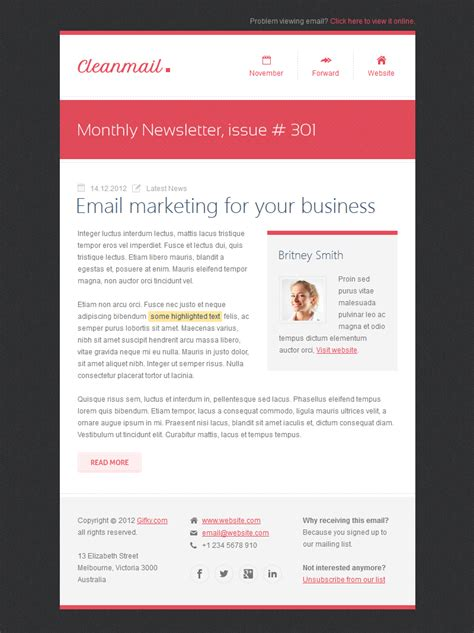 clean mail minimal email template  gifky themeforest
