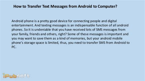 text someone from computer how to transfer text messages from android to computer