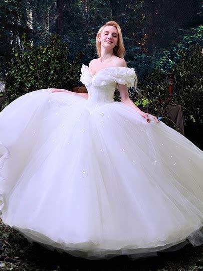 Ball Gown Appliques Cinderella Wedding Dress : Tbdress.com