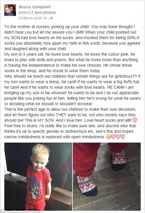 Mother Laughed At Anothers Three Year Old Son For Wearing