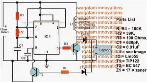 Laptop Charger Circuit From 12v Battery