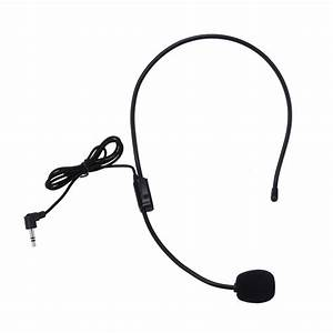 Alloyseed Portable Headset Microphone Wired 3 5mm Jack