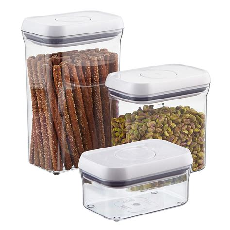 cuisine pop oxo grips rectangular pop canisters the container store