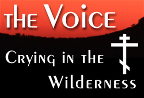voice crying   wilderness  voice blog