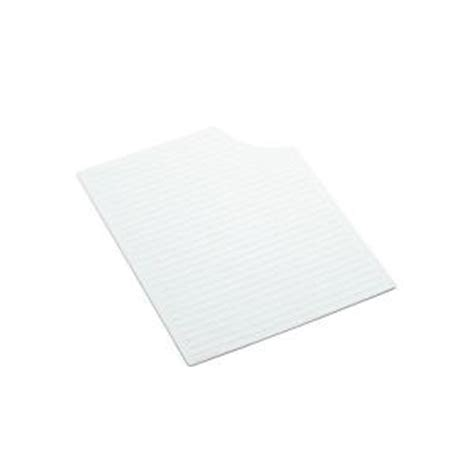Sink Mat Home Depot by Kohler Silicone Mat In White For Carrizo Kitchen Sinks