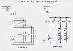 Forward  U0026 Reverse 3 Phase Ac Motor Control Circuit Diagram