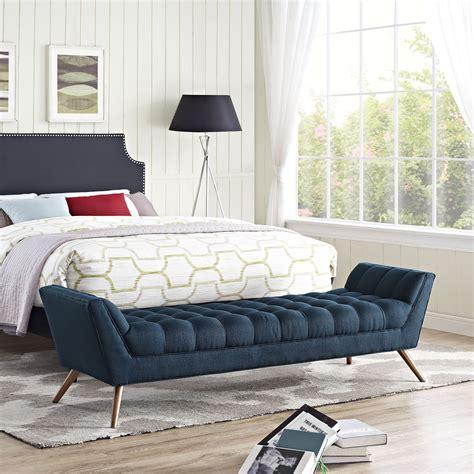 response upholstered bedroom bench wayfair