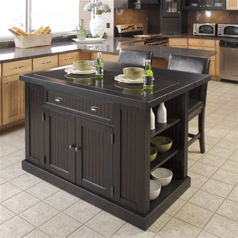 kitchen islands black kitchen island with stools discount islands