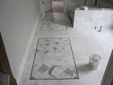 master bathroom marble tile floor