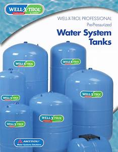 Amtrol Pre Pressurized Water System Tanks Well X Trol