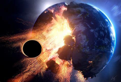 wallpaper earth collapse meteor black hole wallpapermaiden